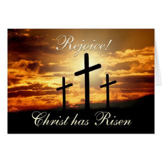 Verheug me! Christus is, het Kruis van Pasen Briefkaarten 0
