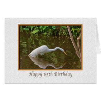 Verjaardag, 65ste, Grote Aigrette die bij de Wenskaart