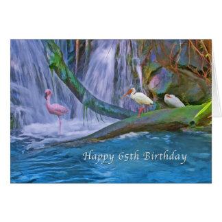 Verjaardag, 65ste, Tropische Waterval, Wilde Wenskaart