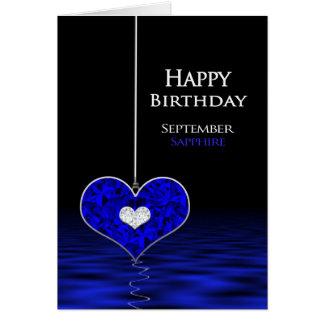 Verjaardag - Birthstone - September - Saffier Briefkaarten 0
