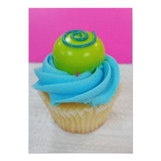 Verjaardag Cupcake 12,7x17,8 Uitnodiging Kaart