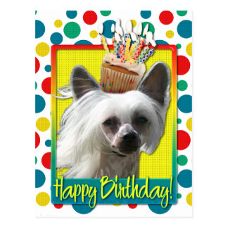 Verjaardag Cupcake - Chinese Kuif - Kahlo Briefkaart