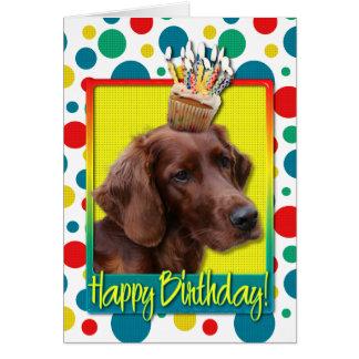 Verjaardag Cupcake - Ierse Zetter Kaart