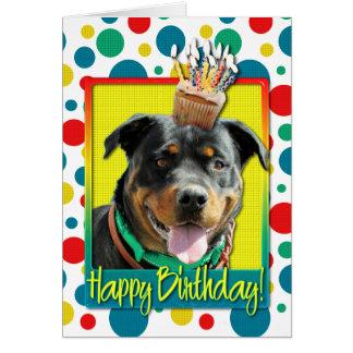 Verjaardag Cupcake - Rottweiler - SambaParTi Briefkaarten 0