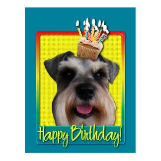 Verjaardag Cupcake - Schnauzer Briefkaart