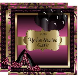 Verjaardag   de Roze Uitnodiging van de Hielen van