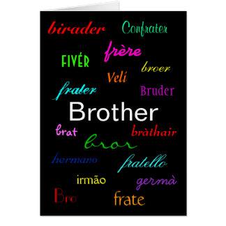 """Verjaardag I van een """"Broer"""" Klantgerichte Kaart -"""