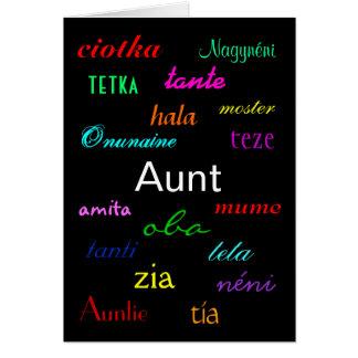"""Verjaardag I van een """"Tante"""" Klantgerichte Kaart -"""