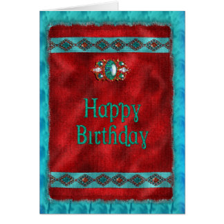 Verjaardag - Inheemse Amerikaan - Zuidwestelijke Briefkaarten 0