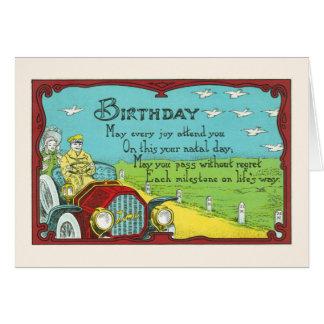 Verjaardag mijlpaal-Groot voor oldtimerminnaars Briefkaarten 0