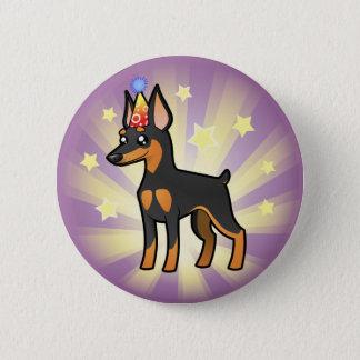 Verjaardag MiniatuurPinscher/Manchester Terrier Ronde Button 5,7 Cm