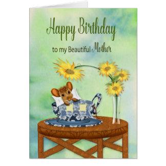 Verjaardag - Moeder - Muis in het Rusten van de Briefkaarten 0
