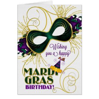 Verjaardag op de Traditionele Kleuren van Mardi Briefkaarten 0