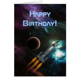 Verjaardag Rocketship Briefkaarten 0