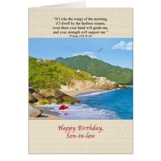 Verjaardag, Schoonzoon, Strand, Heuvels, Vogels, Kaart