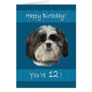 Verjaardag, twaalfde, de Hond van Shih Tzu Briefkaarten 0