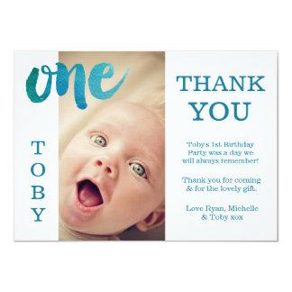 Verjaardag van de Jongen van het baby dankt de 11,4x15,9 Uitnodiging Kaart