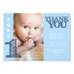 Verjaardag van de Jongen van het baby dankt de Bla Persoonlijke Uitnodigingen