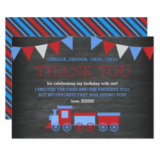 Verjaardag van de Trein van het bord dankt de Rode Kaart