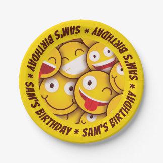 Verjaardag van Smiley Emoji Emoticon van Kawaii de Papieren Bordje