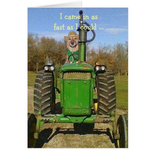 Verjaardag Voor De Ventilators Van De Tractor Wenskaart