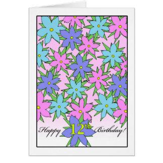 Verjaardag voor het Meisje van 12 Éénjarigen, de Briefkaarten 0
