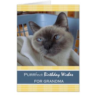 Verjaardag voor Oma, Kat in Wasmand Briefkaarten 0