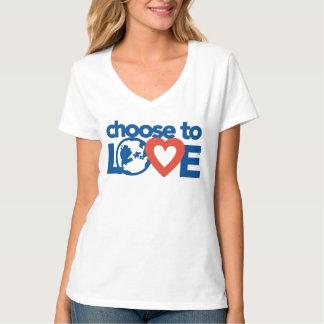 Verkies om van de v-Hals van Vrouwen te houden T Shirt