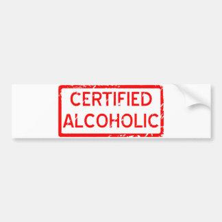VERKLAARDE ALCOHOLISCH BUMPERSTICKER
