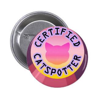 Verklaarde Catspotter Ronde Button 5,7 Cm