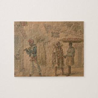 Verkopers van het knoflook en van de Ui, 1826 (w/c Puzzel