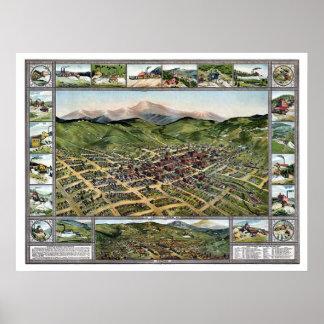 Verlam Kreek, de Panoramische Kaart van Co - 1896 Poster