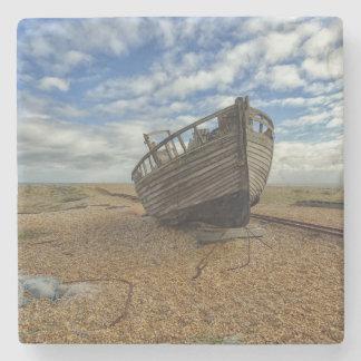 Verlaten Houten Vissersboot | Dungeness Stenen Onderzetter