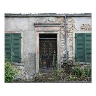 Verlaten huis, Bazel, Zwitserland Foto Afdrukken