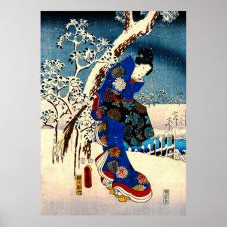 Verlaten verhaal van Genji 1853 Poster