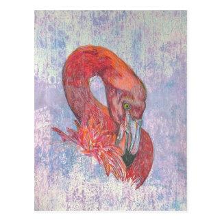 Verlegen Flamingo Briefkaart