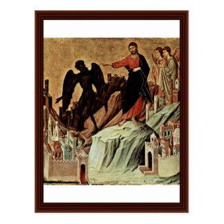 Verleiding van Christus op de Berg Briefkaart