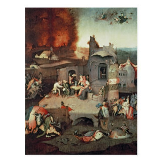 Verleiding van Heilige Anthony, c.1500 Briefkaart