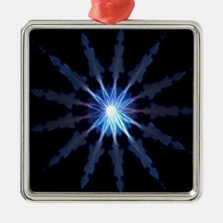 Verlichting Zilverkleurig Vierkant Ornament