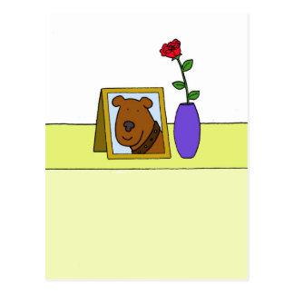 Verlies van geliefde huisdierenhond, sympathie briefkaart