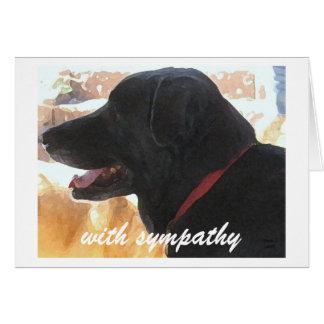Verlies van Hond - de Sympathie van het Huisdier Kaart