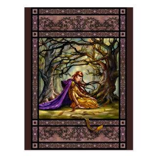 Verloren in het briefkaart van het Bos