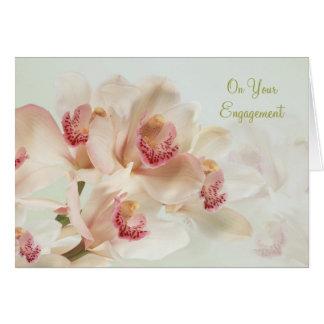 Verloving - Witte Orchideeën in volledige bloei Kaart