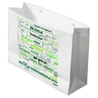 Verminder, gebruik, de Recyclene Wolk van Word Groot Cadeauzakje