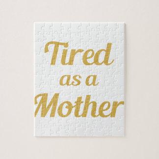 Vermoeid als Moeder Puzzel