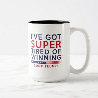 Vermoeid van het Winnen Tweekleurige Koffiemok