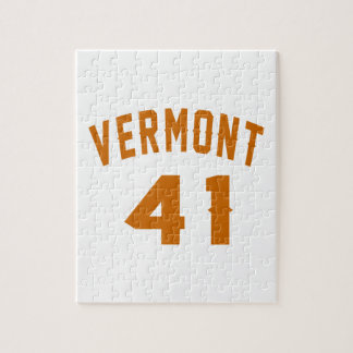 Vermont 41 Design van de Verjaardag Puzzel