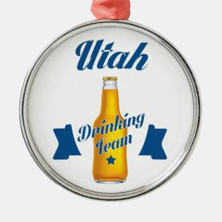 Vermont die team drink zilverkleurig rond ornament