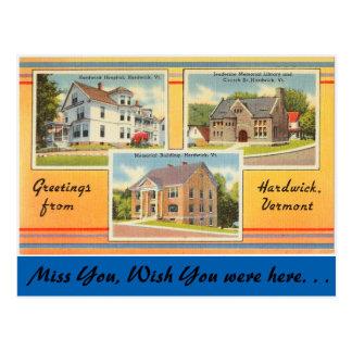 Vermont, Groeten van Hardwick Briefkaart