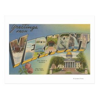 Vermont (het Kapitaal/de Bloem van de Staat) - Briefkaart